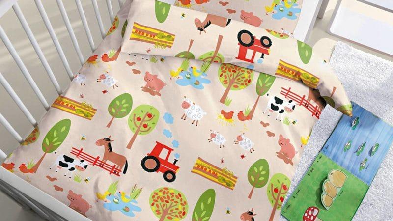 Kinderbiber Bettwäsche Bauernhof