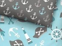 Biber Kinderbettwäsche 100x135 mit Piratenmuster Jonas