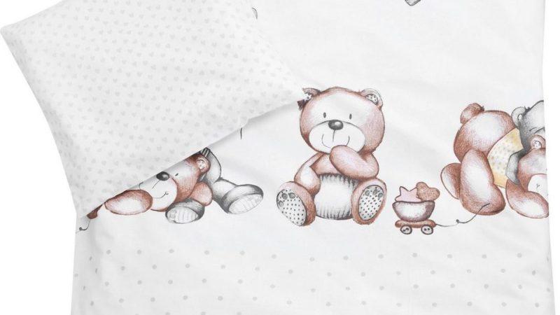 """Baby Bettwäsche 80×80 cm """"Schmusebärchen"""""""