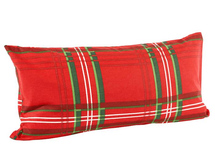 Halbes Kopfkissen im Maß 40x80 cm zu Karo Merry