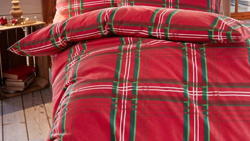 Karobiber Bettwäsche in warmen rot