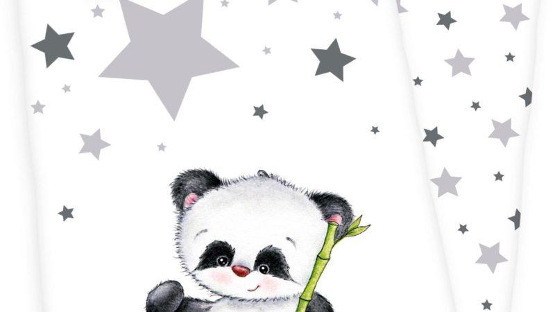 Biber Babybettwäsche 100 x 135 cm Panda Jana