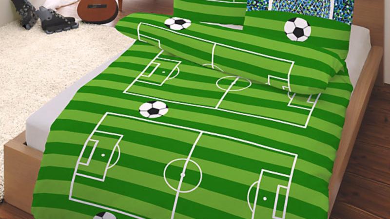 """Biber Bettwäsche """"Fußball"""" 135 x 200 cm"""