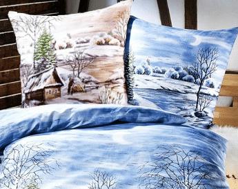 Biber Bettwäsche Schneehütte in zwei Farbtönen